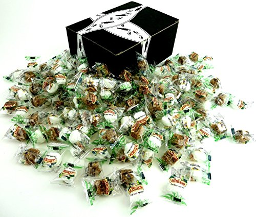 Bghin Say La Perruche Individually Wrapped Rough Cut Brown & White Sugar Cubes, 3 lb Bag in a Gift Box