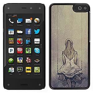 For Amazon Fire Phone , S-type® Melancholia Sad Swing Drawing - Arte & diseño plástico duro Fundas Cover Cubre Hard Case Cover