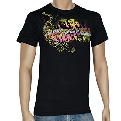 33537ca6e8 Amazon.com  Boys Night Out - Band   Tiger - Black T-shirt  Clothing