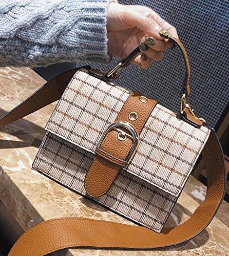 satchel cuadrada oblícua nuevo bolsa pequeña estilo moda Joker primavera retro verano bolso Solo bolsa qp07AA