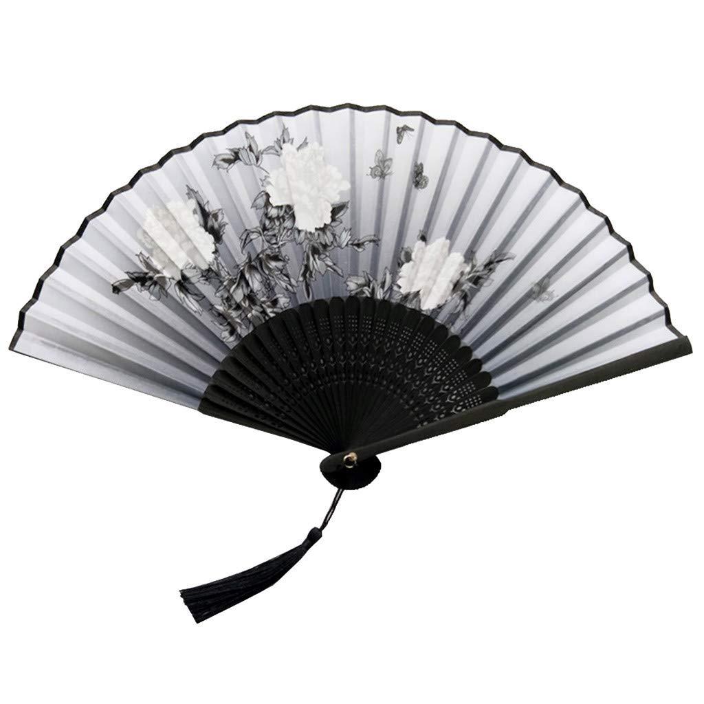 Tashioning Ventiladores Plegables Portátiles De Bambú Ventilador ...