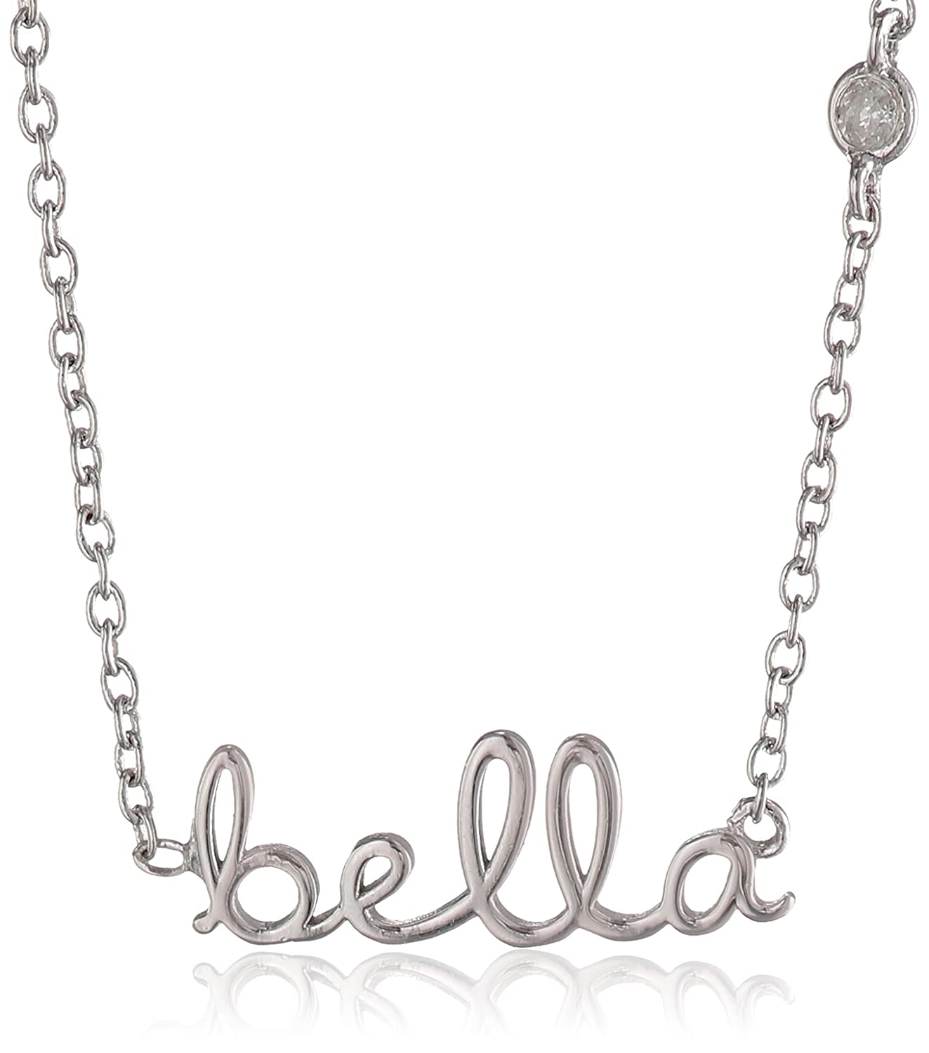 "Amazon Shy by SE ""Bella"" Necklace with Diamond Bezel Jewelry"