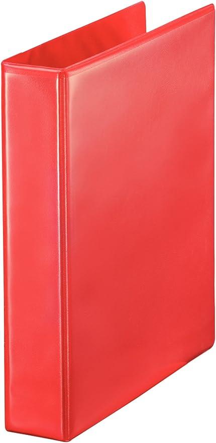 Esselte Group 49700 Essentials - Archivador para presentación (con anillas personalizable, A4, capacidad para 140 hojas, cartón recubierto de polipropileno, anillas 40 mm), color rojo: Amazon.es: Oficina y papelería