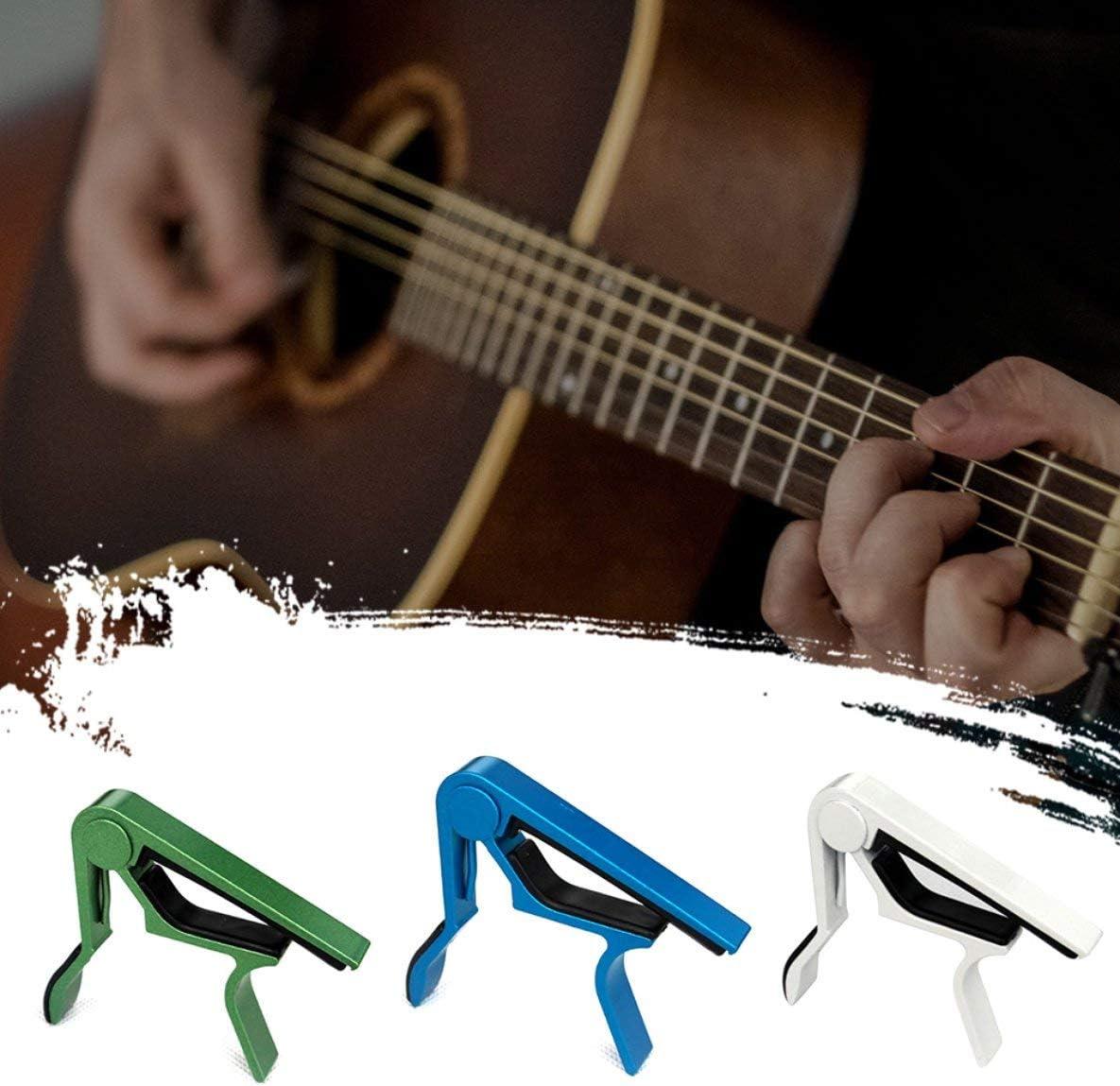 Rouku en Alliage daluminium m/étal Guitare Capo Changement Rapide Pince cl/é Acoustique Classique Guitare Capo Ton r/églage de la Guitare pi/èces