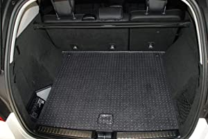 PUREMATS Cargo/Trunk Mat Accessories Compatible with Alfa Romeo Giulia Quadrifoglio - All Weather - Heavy Duty - Custom Fit - (Made in USA) - Crystal Clear - 2017, 2018, 2019, 2020