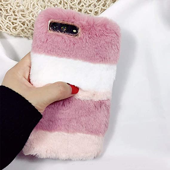 brand new 890d9 471cd Fluffy Case for Galaxy S8 Plus, Galaxy S8 Plus Faux Fur Case, Luxury Cover  Washable Plush Cover Bling Soft Silicone Shell Imitation Rabbit Fur Bunny  ...