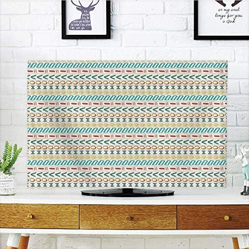 CANCA - Funda para televisor LCD, diseño de Rayas, Tonos de Morado, diseño Fragmental, Color Blanco Lavanda, Compatible con televisores de 47 Pulgadas: Amazon.es: Electrónica
