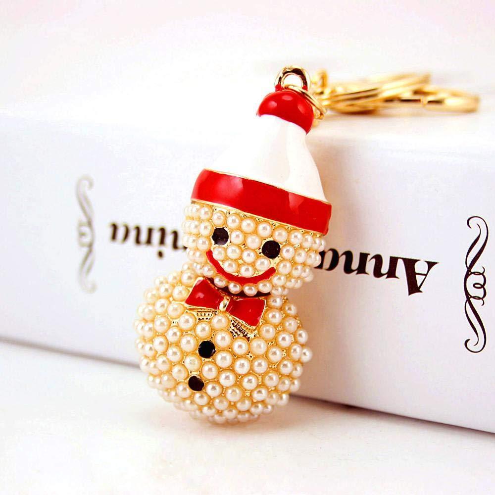 Yunfeng Lindo Llavero Coche Llavero Perla de muñeco de Nieve ...