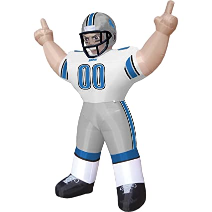 Amazon Com Detroit Lions Tiny Inflatable Lawn Decoration