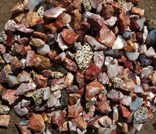 """Fundamental Rockhound Products: 2 lb Rough Mexico Mixed Bulk Rock for Tumbling Small 3/4-1"""" Metaphysical Gemstones Healing Crystals"""