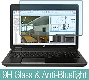 "Synvy Anti Blue Light Tempered Glass Screen Protector for HP ZBook 15 G2 15.6"" Visible Area 9H Protective Screen Film Protectors"