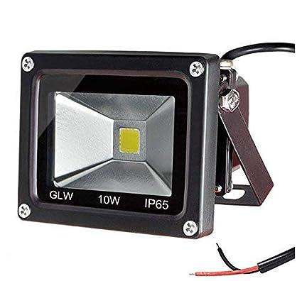 best website b04b2 6194b GLW 10w 12v Ac or Dc Warm White Led Flood Light Waterproof Outdoor Lights  750lm 80w Halogen Bulb Equivalent Black Case
