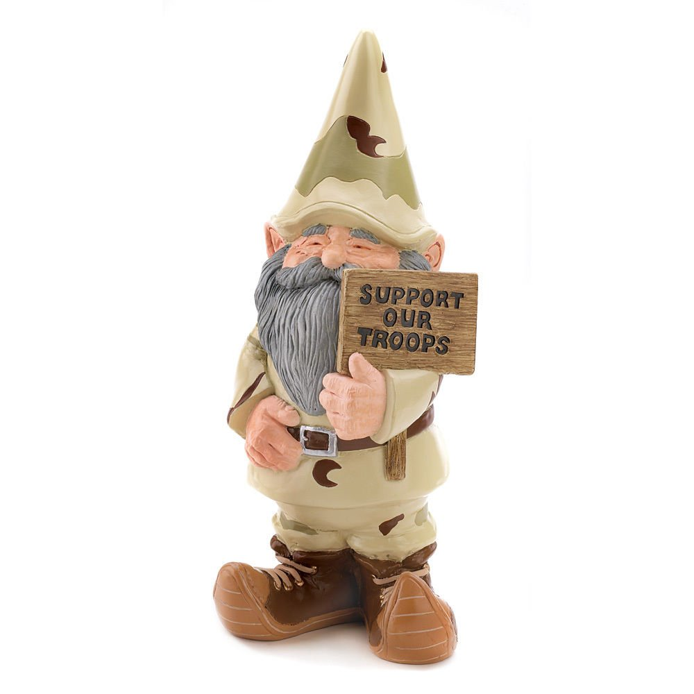 (Ship from USA) Garden Gnome Support our Troops Large Statue Garden Home Decoration Ships Free! /ITEM NO#8Y-IFW81854242062