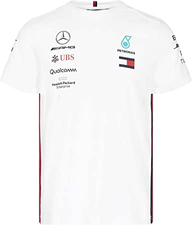 MERCEDES AMG Petronas NUOVO 2020 F1 Driver Manica Corta T-shirt nera