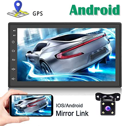 Double 2Din Car Stereo Reiw Camera Touch Screen Radio Mirrorlink For Android IOS