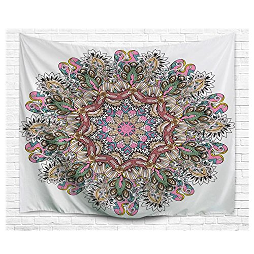 Einfachheit Mandala Tapestry Watercolor Indian Wall Hanging (flora) ()