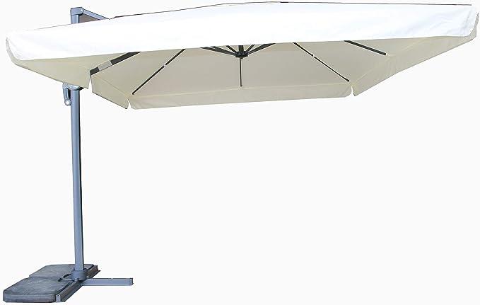 manieri Ombrellone Decentrato da Giardino in Alluminio 3x4m Moka