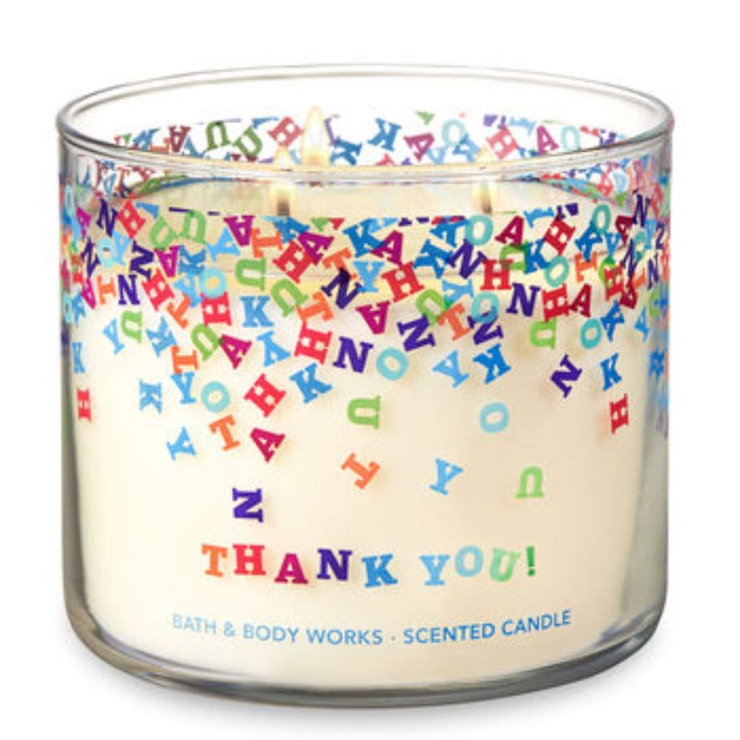 Bath and Body Works Champagne Toast' Thank You' 3 Wick 14.5 oz Candle
