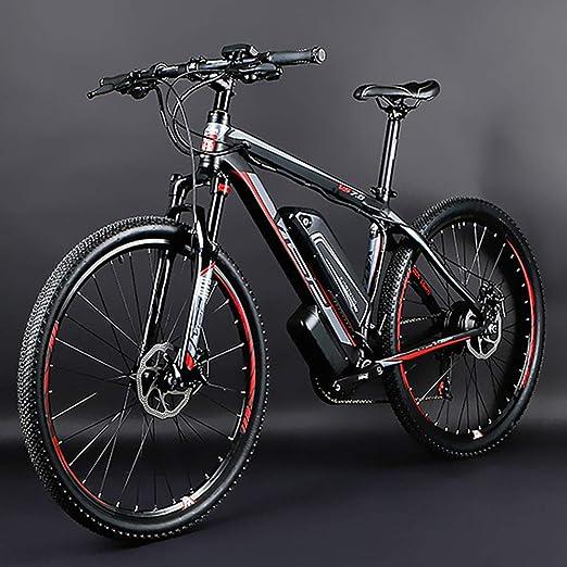 HJHJ Bicicleta de montaña eléctrica, Bicicleta híbrida de 26 ...