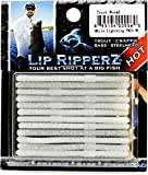 Lip Ripperz Trout WormZ Lure, 2-1/2-Inch, White Lightning