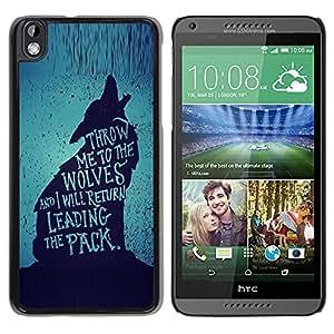 Caucho caso de Shell duro de la cubierta de accesorios de protección BY RAYDREAMMM - HTC DESIRE 816 - The Pack Brave Heroic Text