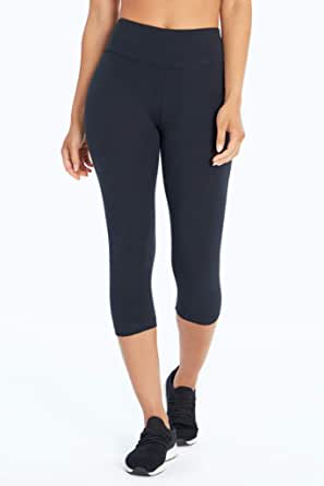 Bally Total Fitness Womens High Rise Tummy Control Capri Legging