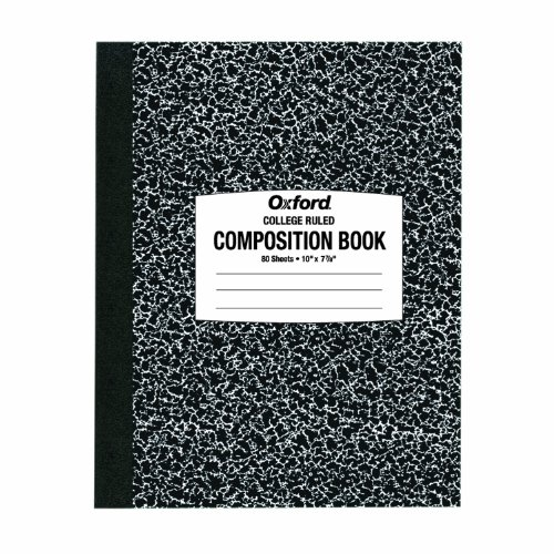 Ampad Composition Notebook, 10 x 7-7/8, College Ruled, 80 Sh