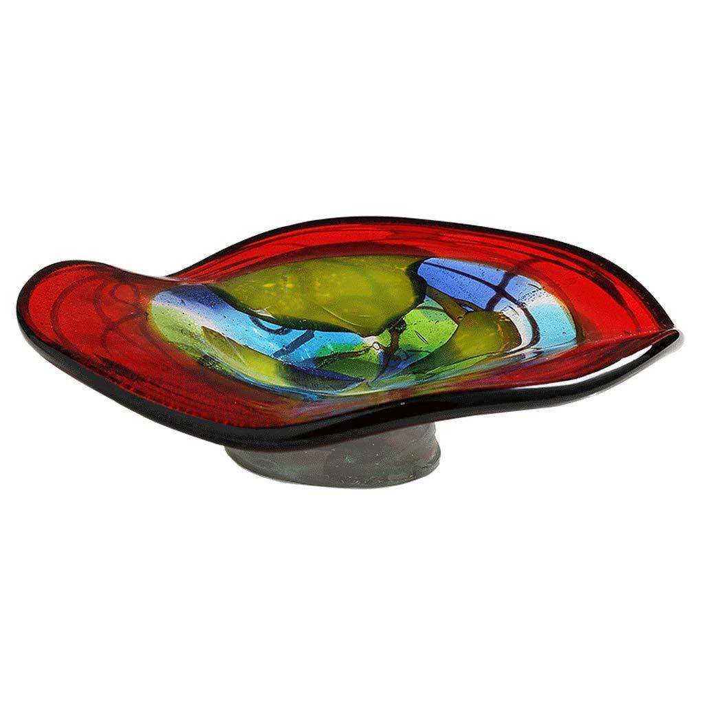 SLH ヨーロッパスタイルのガラスフルーツディッシュリビングルームクリエイティブホームコーヒーテーブルホームラグジュアリークリスタルガラスプレートオーナメント   B07JJ8KRFJ