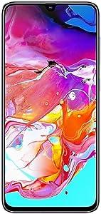 "Samsung Galaxy A70 (128GB, 6GB RAM) 6.7"" Display, On-Screen Fingerprint, 25W Super-Fast Charging, Global 4G LTE GSM Factory Unlocked A705MN/DS (International Version, No Warranty) (White)"