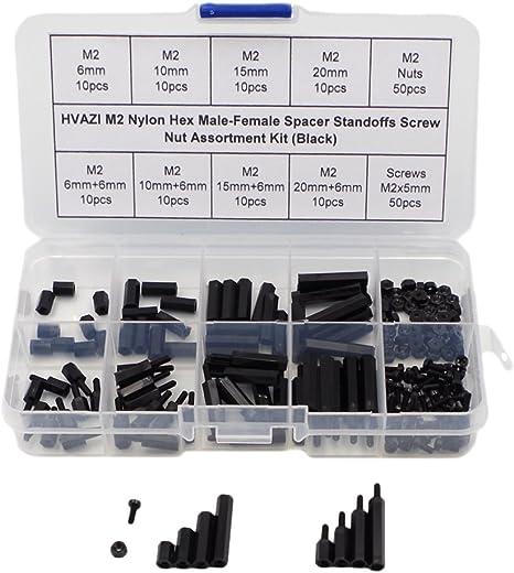 M3 M4 Black Nylon Hex Spacer Standoff Pillar Male-Female Screws 10Pcs, M4 x 20+6 mm