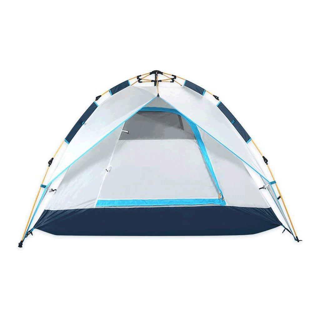 JIE KE Zelt, Bergsteigerzelte, Mehrzweckzelte, Außenzelt 3-4 Personen Automatisches Wasserdichtes Geschwindigkeitszelt Zweischichtiges Mesh Atmungsaktive Überdachung