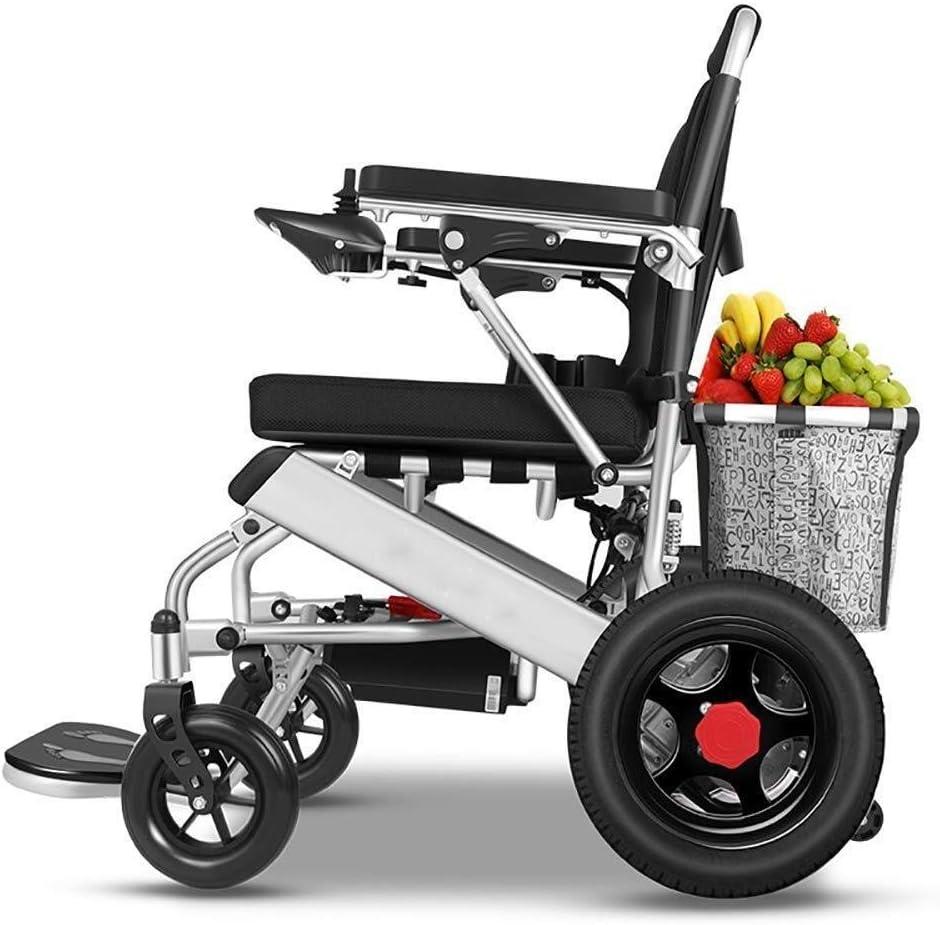 Las sillas de ruedas eléctricas de aluminio silla de ruedas eléctrica plegable, silla de ruedas portátil de la cesta del almacenaje Ligera batería de litio motorizado for ancianos discapacitados de ca
