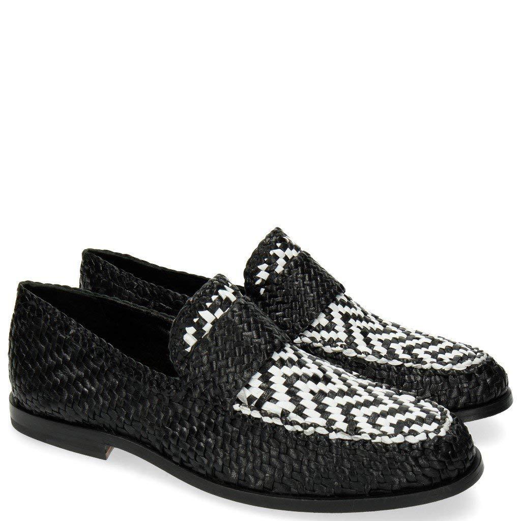 MELVIN & HAMILTON MH HAND MADE Schuhe OF CLASS Weiß Pit 10 Woven schwarz Weiß CLASS  46 1bb9fe