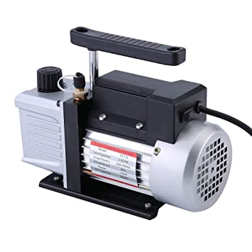 Sweepid Vakuumpumpe 2.5CFM 1//4HP 220V 50Hz 5pa Unterdruckpumpe Vakuum Pumpe f/ür K/älte Klimaanlagen