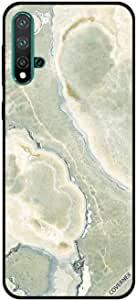 حافظة هواوي نوفا 5 بنمط الرخام على شكل الماء