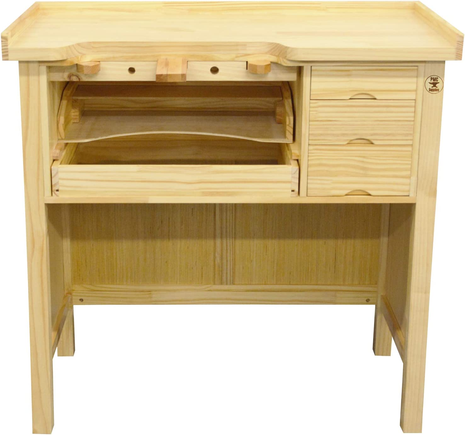 Deluxe Solid Wooden Jewelers Bench Workbench Station
