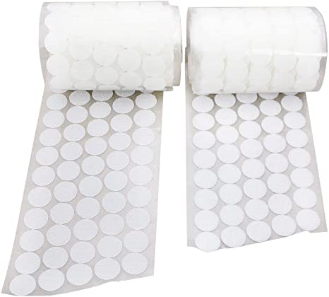 Self Adhesive dots Tapes 5//8 Hook-and-Loop Coins with Strong Sticky for Classroom 500 Sets, White 1000 Pcs Education Activities Craft