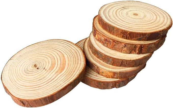 30pcs 4-5cm Formato Assorted Colore del Legno fette Rotonde Dischi logaritmo Naturale di Arts /& Crafts casa HangingEvent Orname