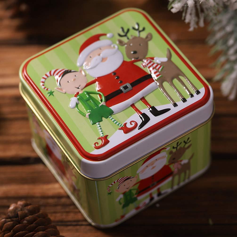Scatola Latta Biscotti Natale.Amosfun Contenitore Di Biscotto Di Natale Barattolo Di Latta Contenitore Di Caramella Contenitori Di Immagazzinaggio Biscotti Di Natale Barattolo Di Latta Per Natale Bomboniere Di Capodanno Casa E Cucina Utensili Decorativi