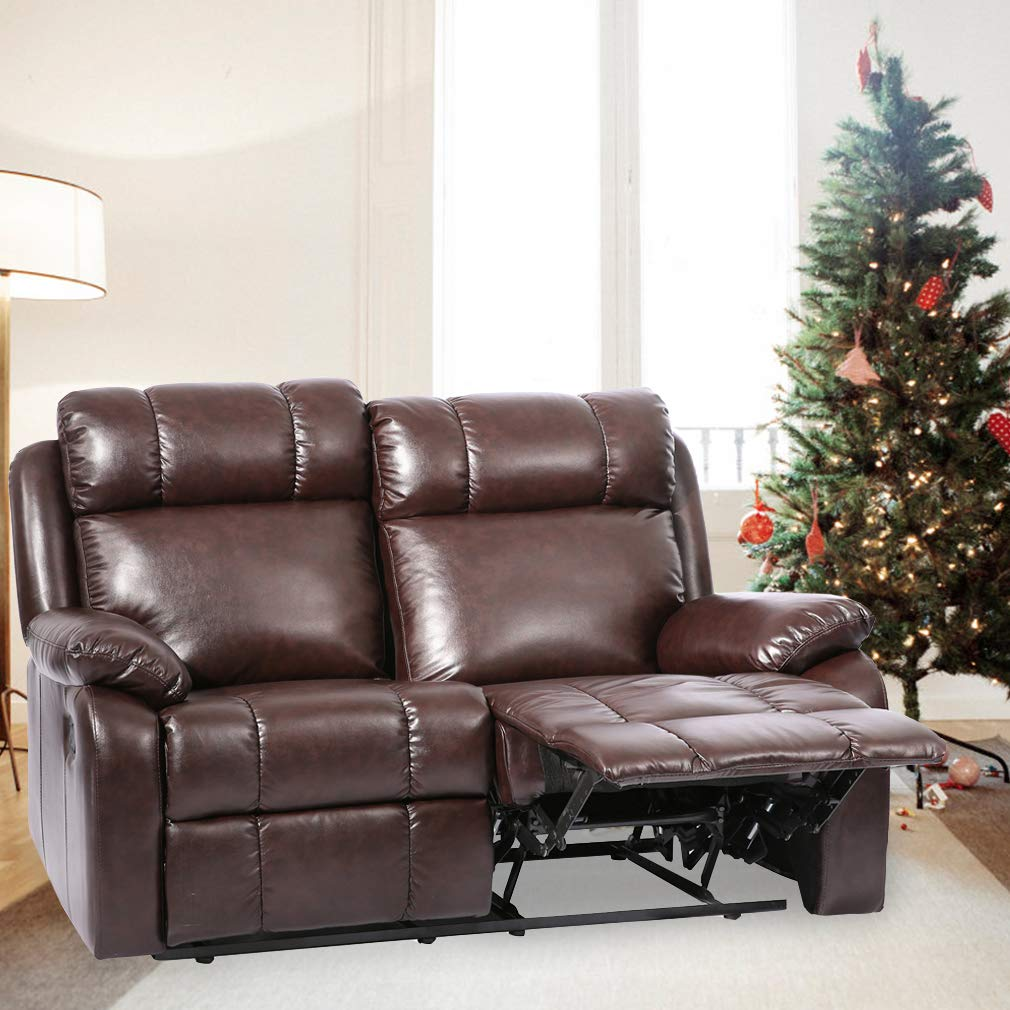 BestMassage Recliner Sofa Loveseat Leather Sofa Recliner Couch Manual  Reclining Sofa Recliner Chair, Love Seat, and Sofa for Living Room Home ...