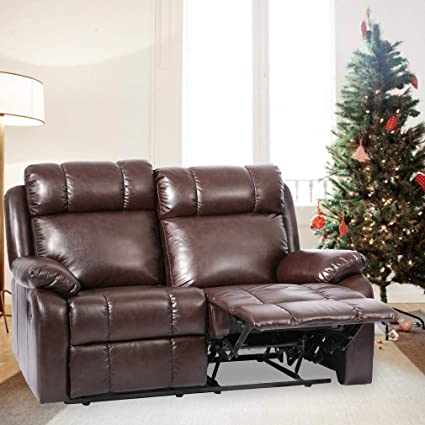 Amazon.com: BestMassage Recliner Sofa Loveseat Leather Sofa Recliner ...