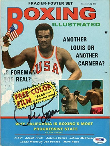 Bell Sports George Foreman Signed 1970 Boxing Illustrated...