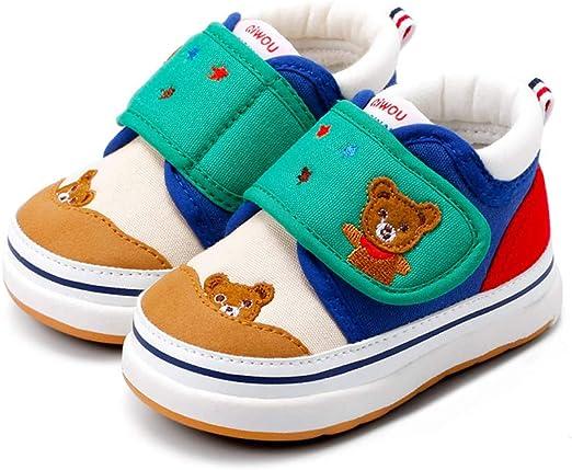 YSZDM Zapatillas para niños, Zapatos de algodón con Velcro para bebés, Zapatos Antideslizantes para niños pequeños ...