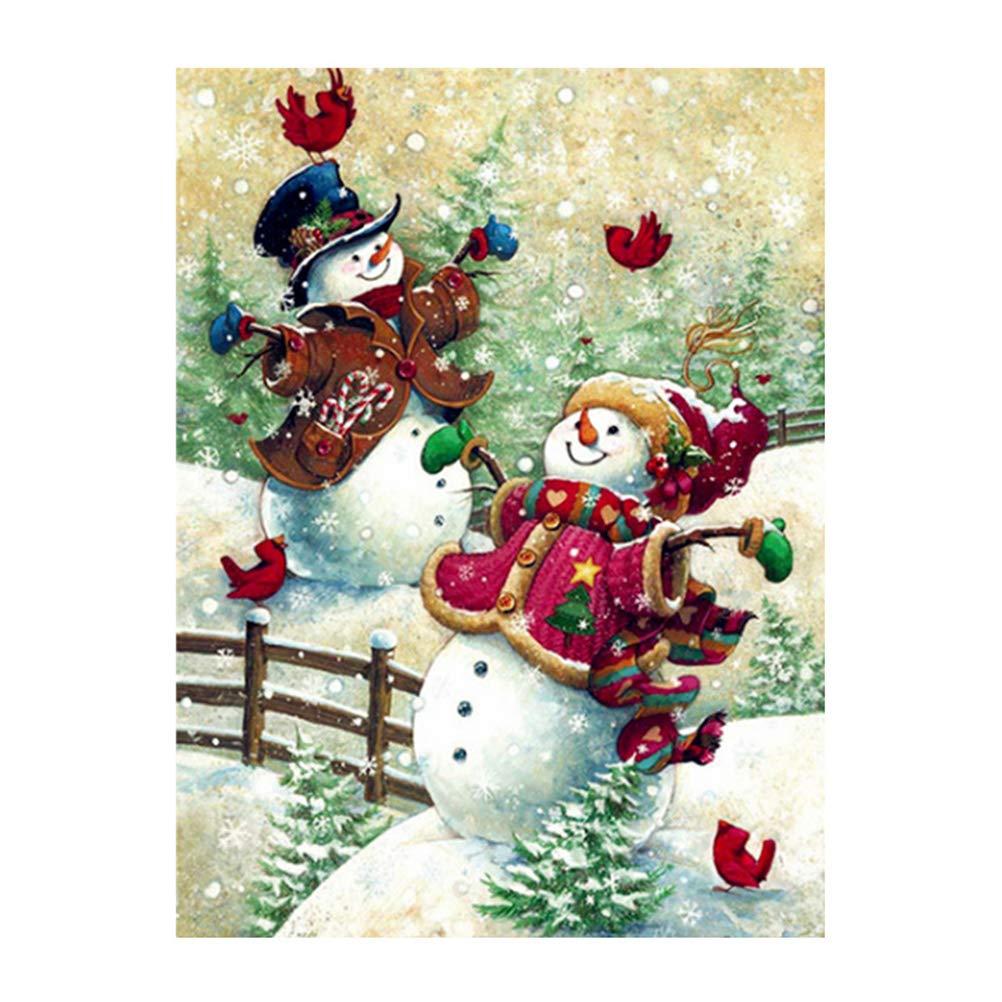 Vosarea Kit Punto de Cruz Diamante Completo Diamante 5d Pintura de Diamante para Navidad mu/ñeco de Nieve Amor sin Marco 20/x 25/cm