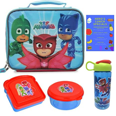 Sparkle PJ Masks Owlette Catboy Gekko Soft Insulated Top Handle Lunchbox School Cooler Bag with Pj