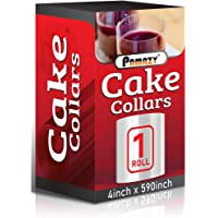 Cake Collars 4 x 591inch, 150micron Thickness Cake Film Transparent, Acetate Sheets for Baking, Best Choice for…