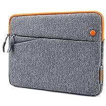 iPad Pro 10.5 Case, Tomtoc 10.5 Inch iPad Pro | 9.7 inch New iPad 2017 | iPad Pro | iPad Air 2 | 10 inch Microsoft Surface Go | Samsung Galaxy Tab Sleeve Protective Bag with Accessory Pockets, Apple Smart Keyboard Compatible, Gray