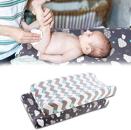 Haodene 2pcs Funda Elástica para Cambiador De Bebé, Ultra Suave Algodón, Sábanas Unisex: Amazon.es: Hogar