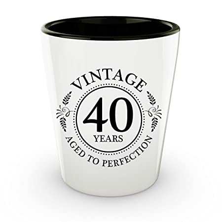 40th Birthday - Vaso de chupito Vintage 40 años - años a la ...