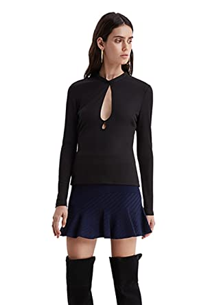 d944f481899fc Amazon.com  Finders Keepers Hunter Long Sleeve Knit Top in Black  Clothing